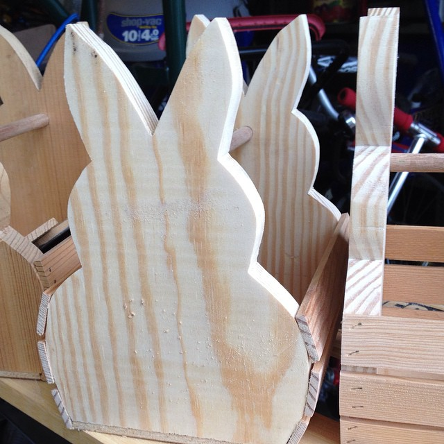 The bunnies just keep multiplying!!! #spring #woodworking #easter